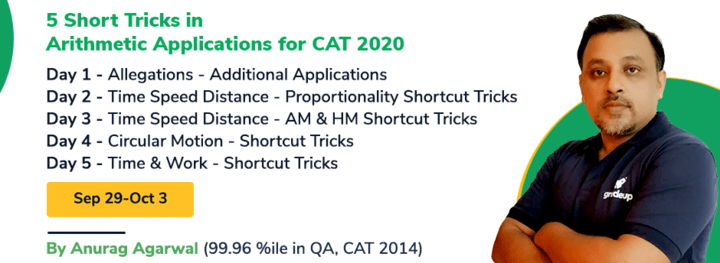 CAT 2020- Short Tricks in Arithmetic Applications in 5 Sessions