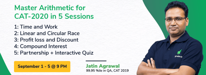 Master Arithmetic for CAT 2020 in 5 Sessions