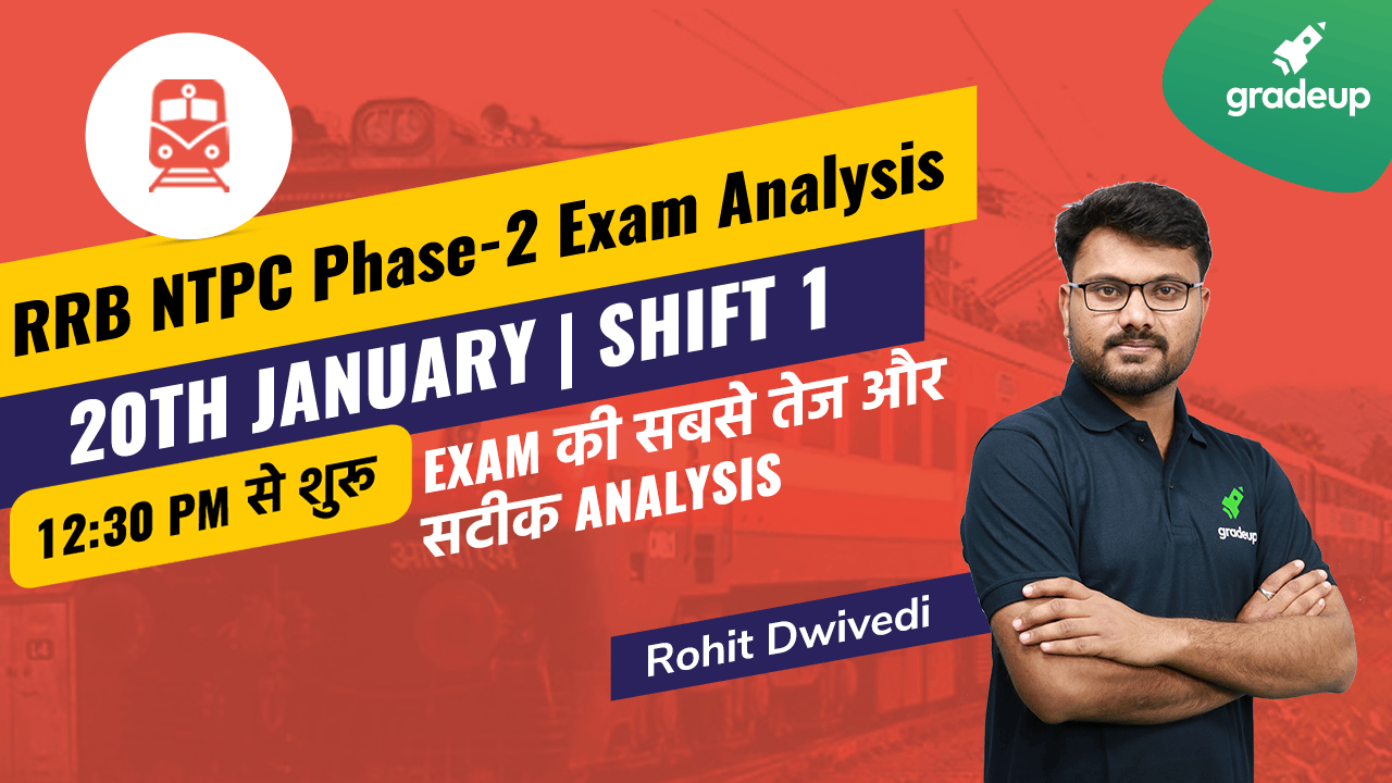 RRB NTPC 2020: Exam Analysis and Asked Questions | 20 January, Shift 1 | Gradeup