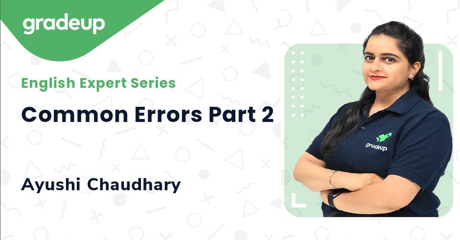 Common Errors Part 2