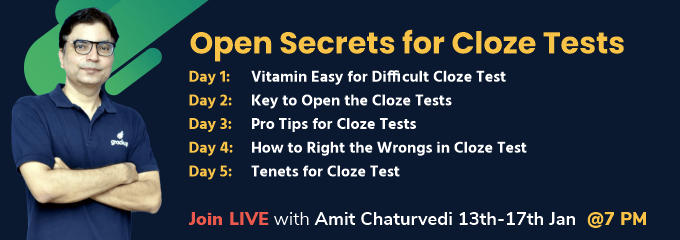 Open Secrets for Cloze Tests