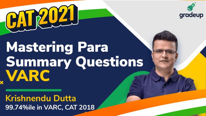 Mastering Para-summary questions