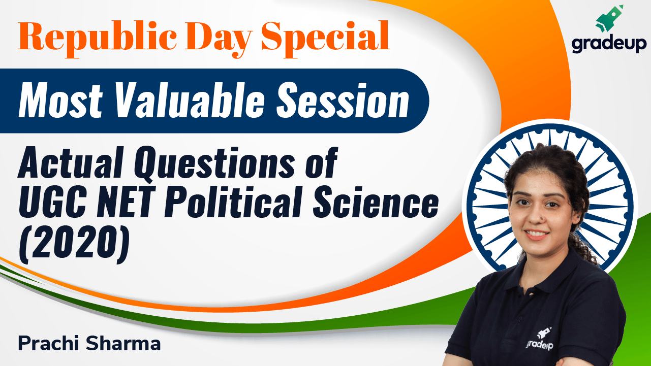 Actual Questions of UGC NET Political Science (2020)