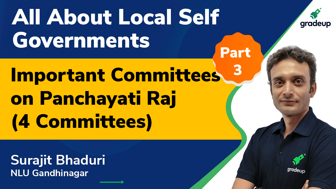 Important Committees on Panchayati Raj (4 Committees) Part - 3