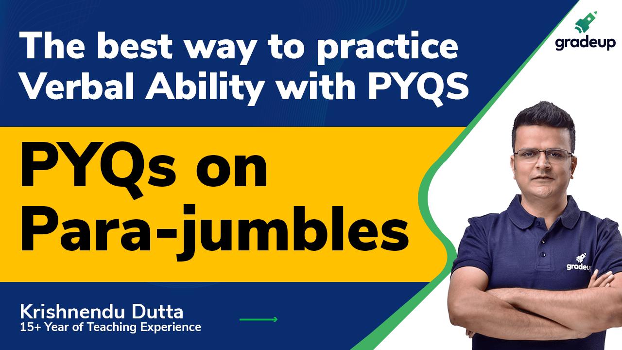 PYQs on Para-jumbles