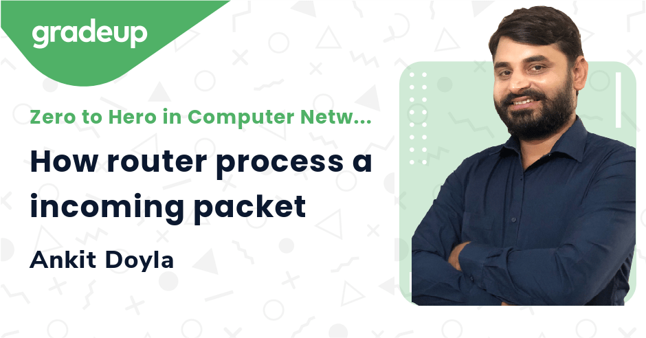 How router process a incoming packet