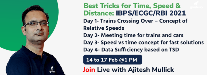 Best Tricks for Time, Speed & Distance: IBPS/ECGC/RBI 2021