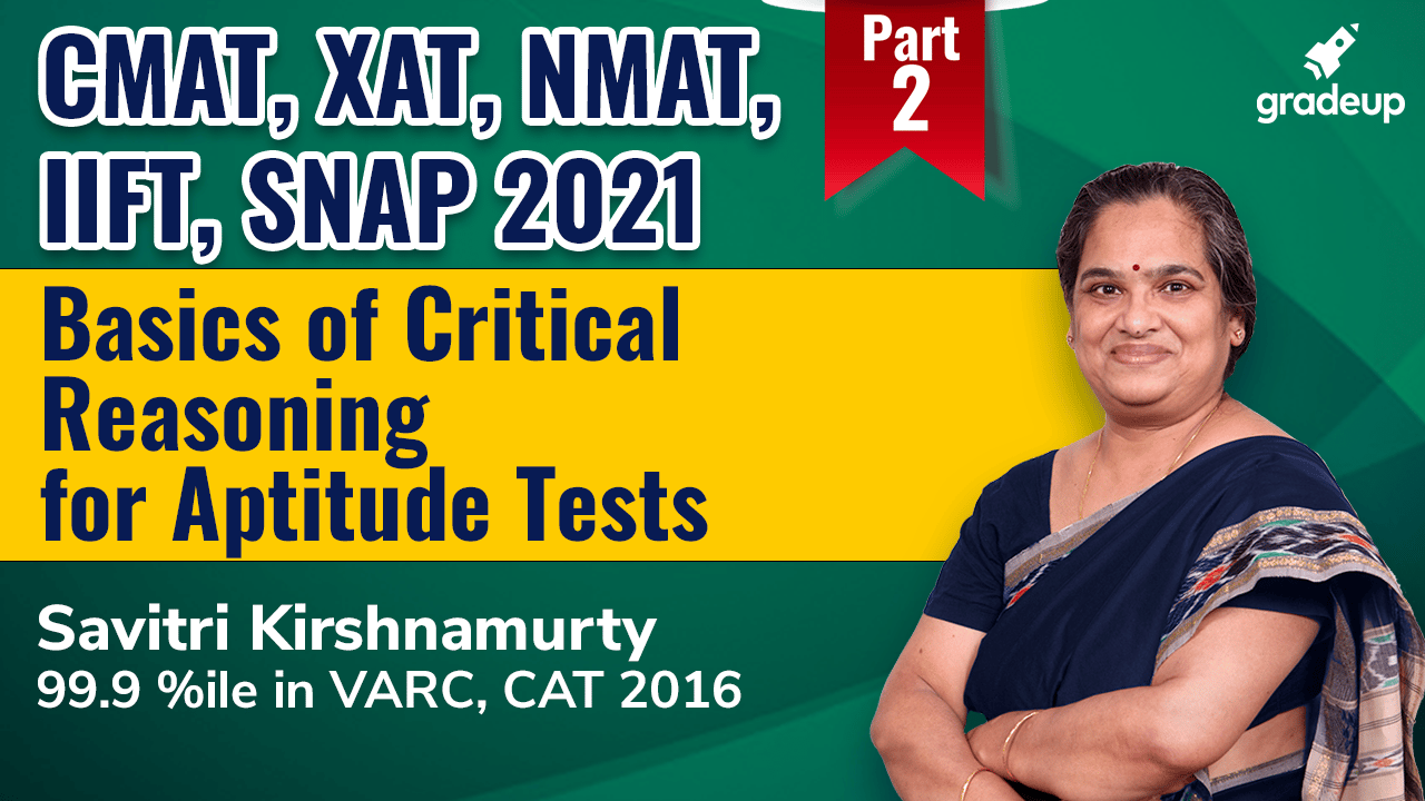Basics of Critical Reasoning for Aptitude Tests (Part-2)