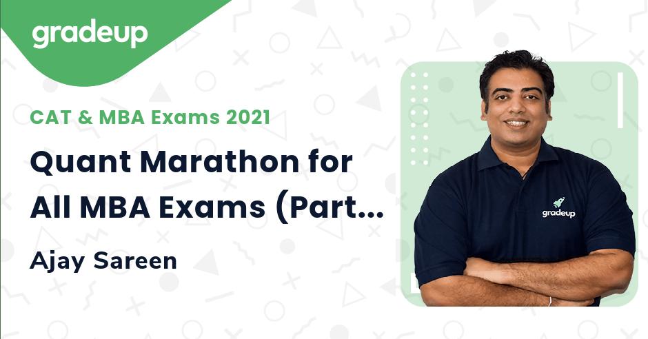 Quant Marathon for All MBA Exams (Part-15)