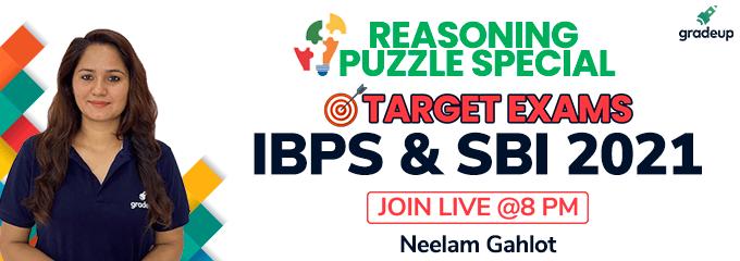 Reasoning Puzzle Mania   Target IBPS & SBI 2021 Exams