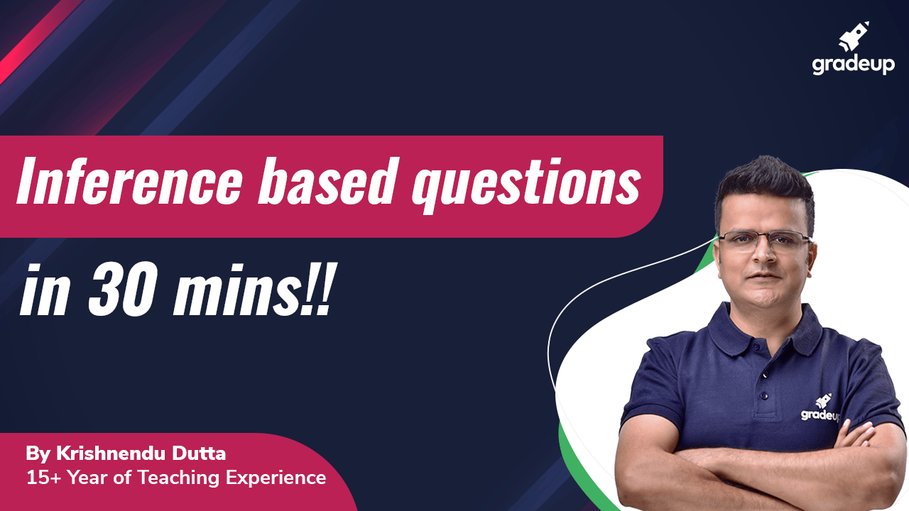 Inference based questions in 30 mins!!