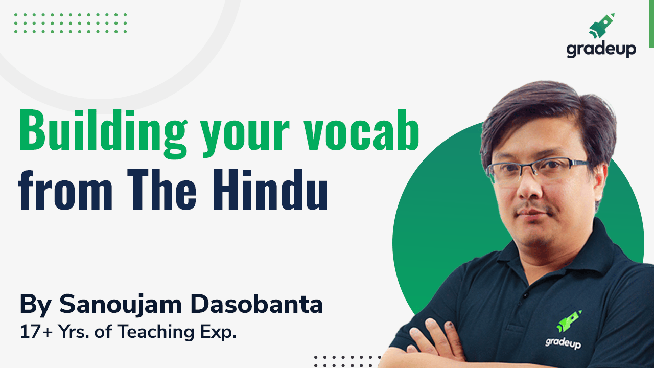 Building your vocab from The Hindu