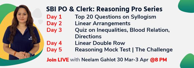 SBI PO & Clerk: Reasoning Pro Series