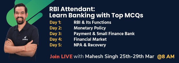 RBI Attendant: Learn Banking with Top MCQs