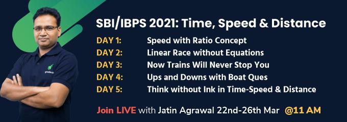SBI/IBPS 2021: Time, Speed & Distance