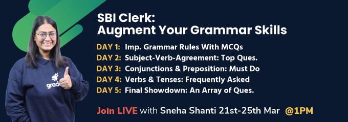 SBI Clerk: Augment Your Grammar Skills
