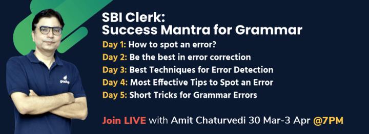 SBI Clerk: Success Mantra for Grammar