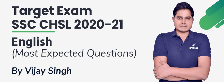 SSC CHSL 2020-21   Most Expected Questions by Vijay sir