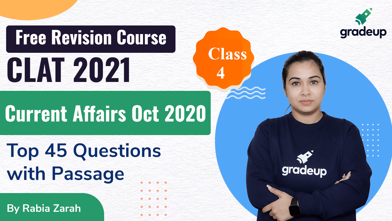 Current Affairs October 2020 | Monthly | CLAT 2021