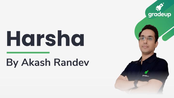 Live Class: Harsha