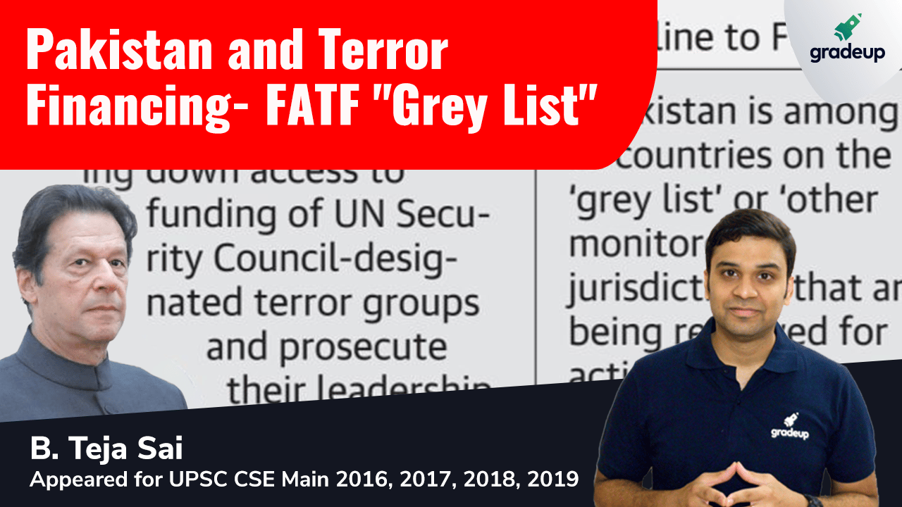 Live Class: India & World Affairs || Pakistan and Terror Financing: FATF 'Grey List'
