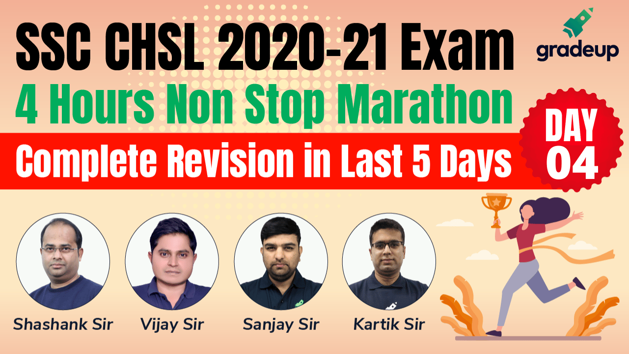 SSC CHSL 2020-21 | 4 Hour Non- Stop Marathon Classes Day 4 | Gradeup