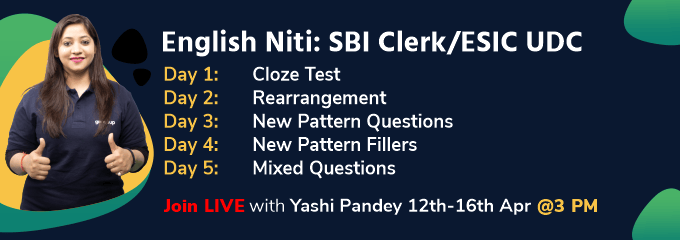 English Niti: SBI Clerk/ESIC UDC Part II
