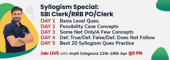 Syllogism Special: SBI Clerk/RRB PO/Clerk