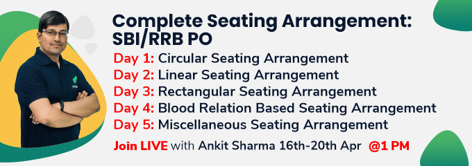 Complete Seating Arrangement: SBI/RRB PO