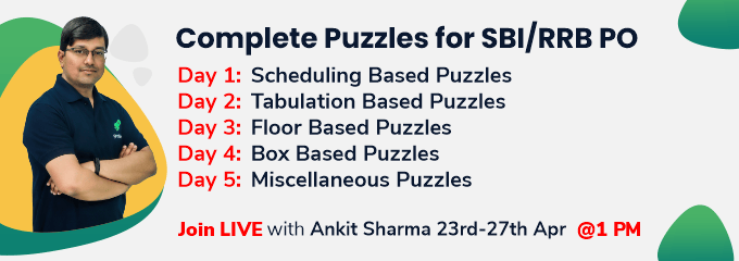 Complete Puzzles for SBI/RRB PO