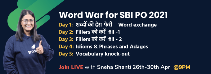 Word War for SBI PO 2021