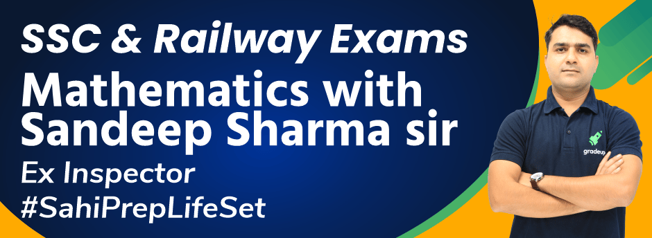 Mathematics with Sandeep Sharma for SSC & Railway Exams