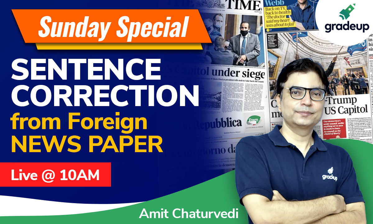 Sentence correction | All Bank Exam  | English | Amit Chaturvedi | Gradeup