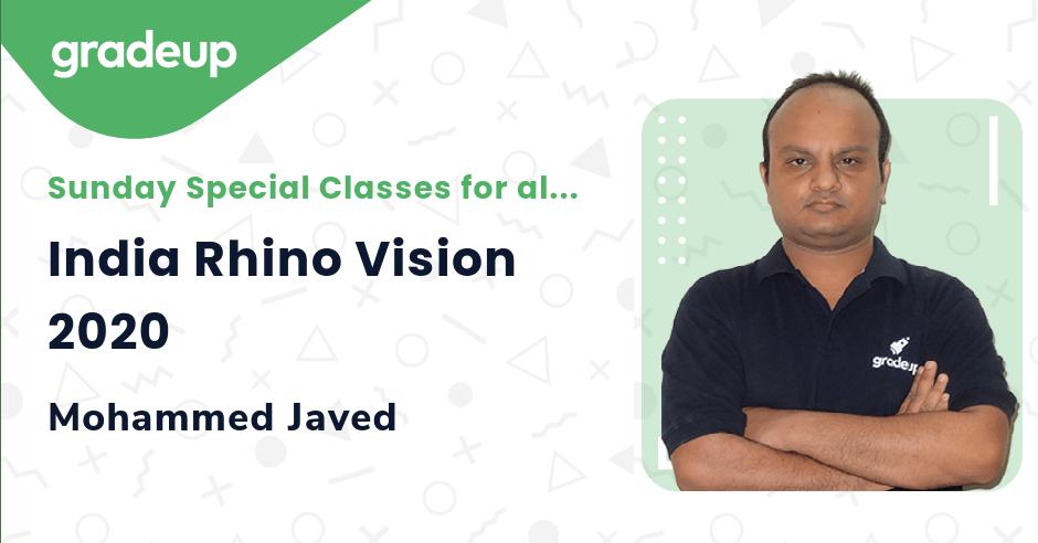 Live class:India Rhino Vision 2020