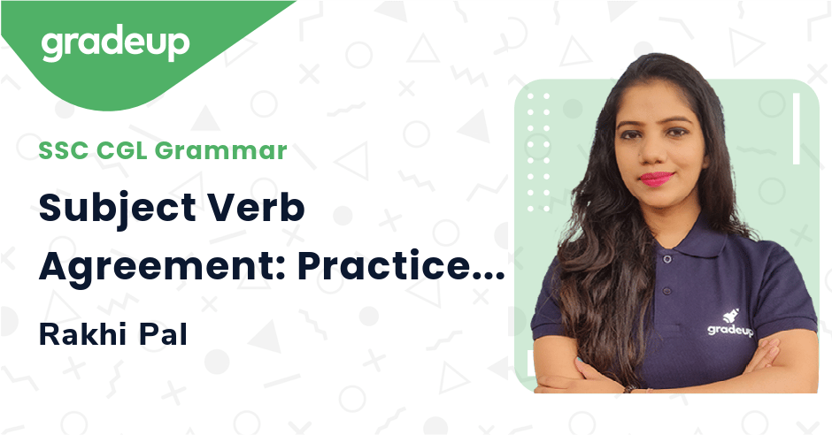Subject Verb Agreement: Practice Session   Day 5