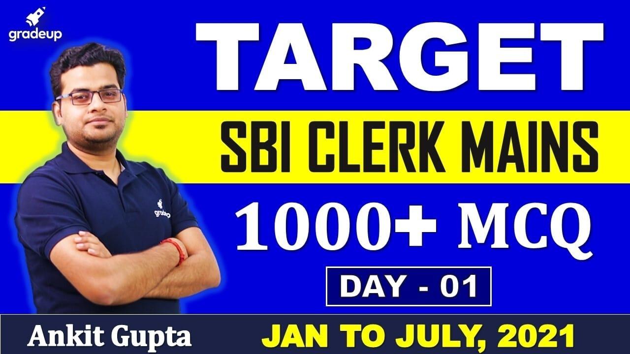 SBI Clerk 2021 Mains | General Awareness | 1000+ Questions | Ankit Gupta | Gradeup