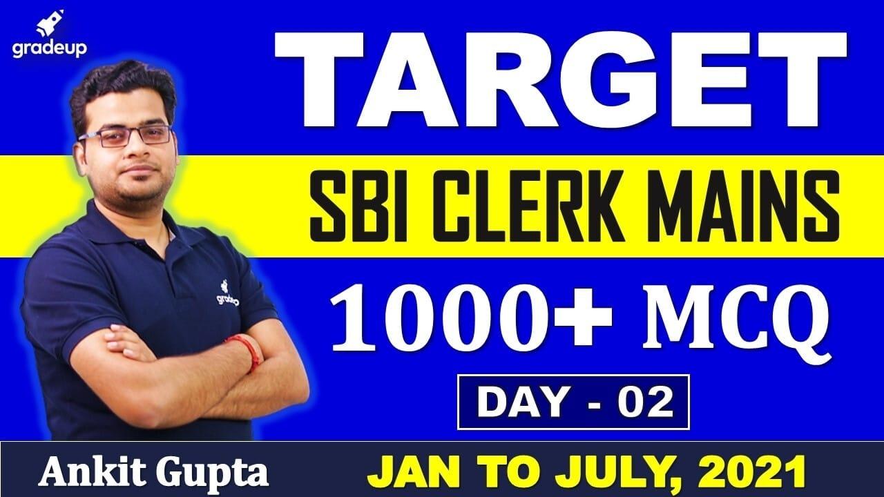 SBI Clerk 2021 Mains | General Awareness | 1000+ Questions |Day 2| Ankit Gupta | Gradeup