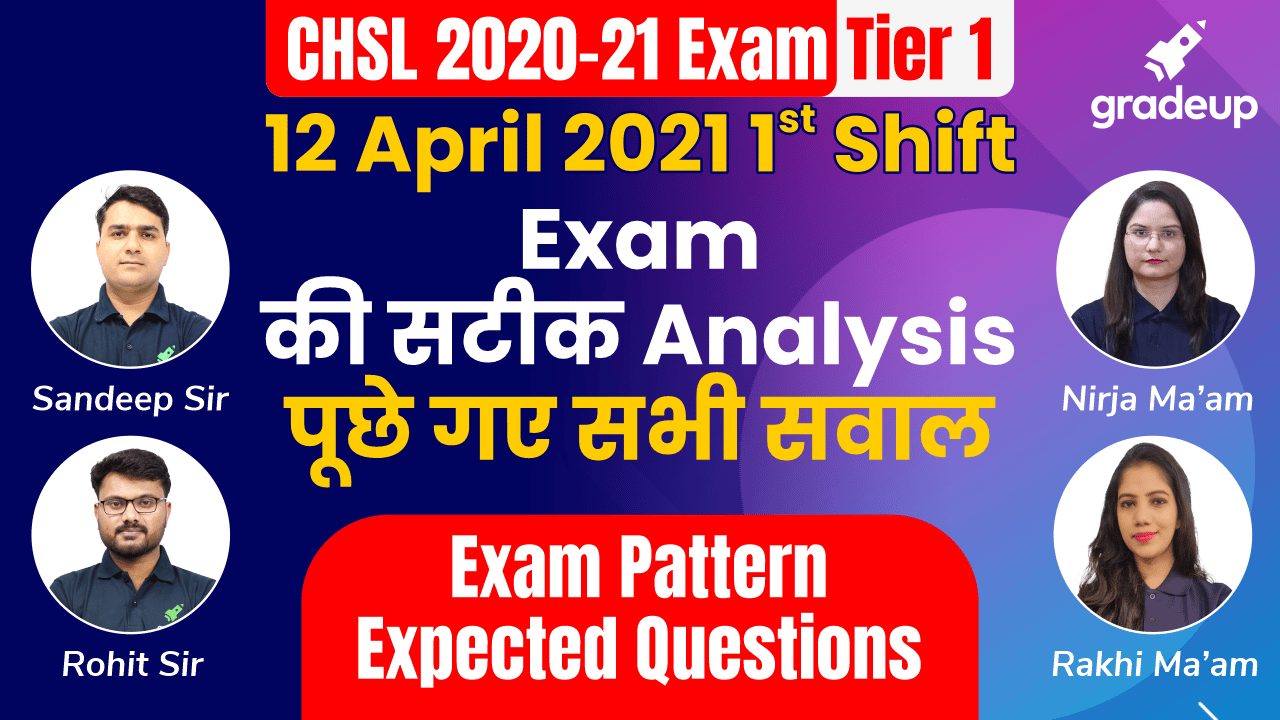 SSC CHSL 12 April 2021 Shift 1 Exam Analysis | सबसे सटीक Analysis