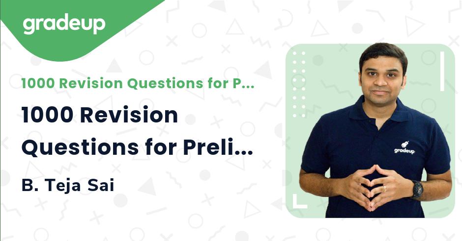 1000 Revision Questions for Prelims 2021 | Part 5