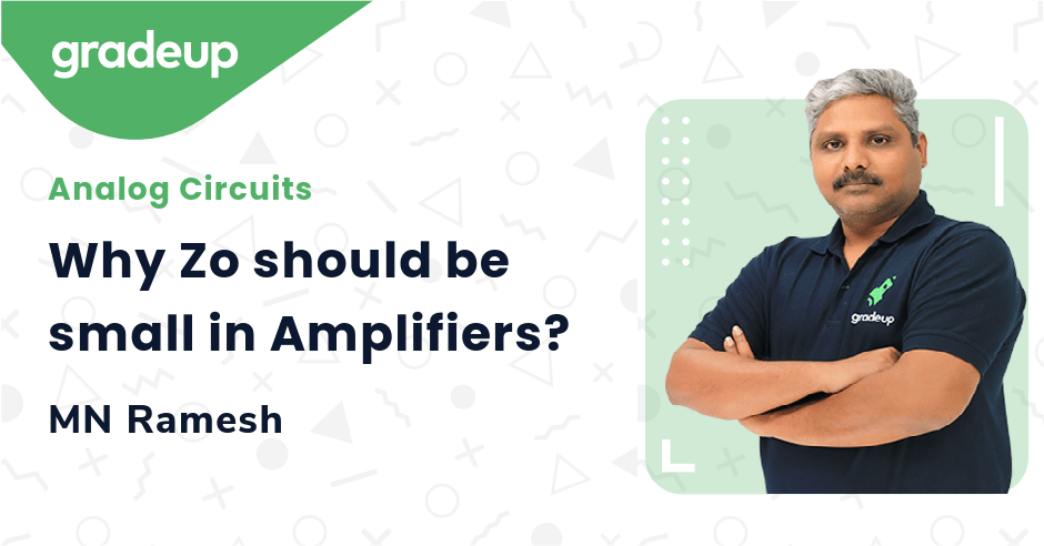 Why Zo should be small in Amplifiers?