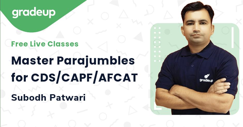 Master Parajumbles for CDS/CAPF/AFCAT