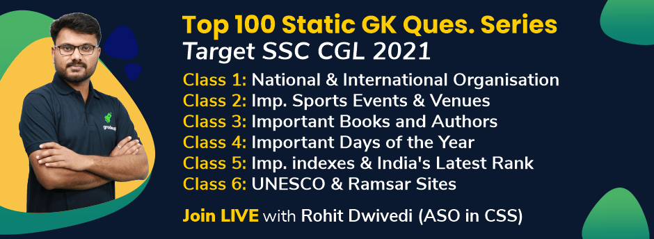Top 100 Static GK Question Series