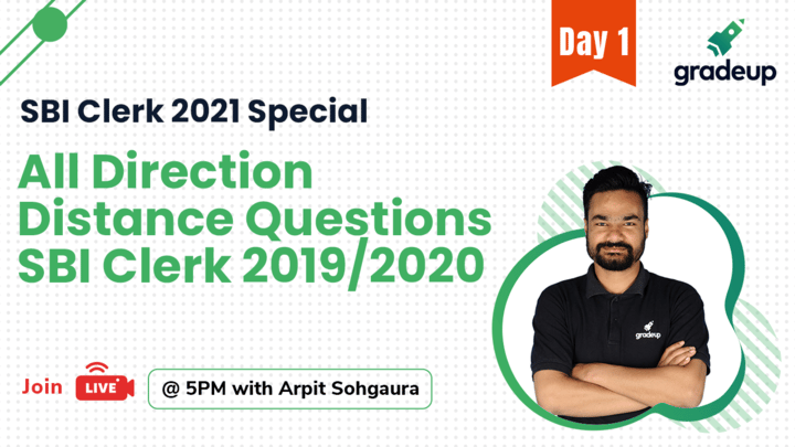 Live Class: All Direction Distance Questions | SBI Clerk 2019/2020