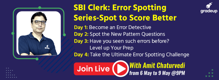 SBI Clerk: Error Spotting Series-Spot to Score Better