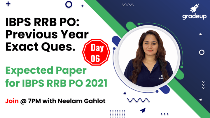 Live Class: Expected Paper for IBPS RRB PO 2021