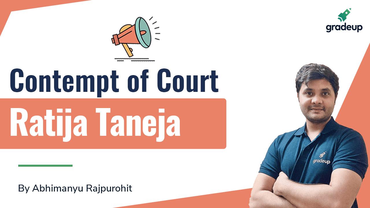 Contempt of Court: Ratija Taneja