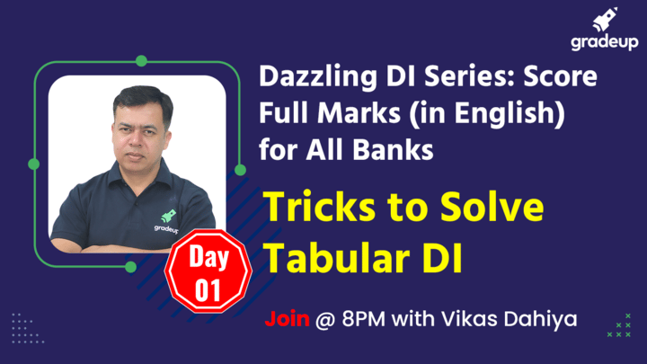 Live Class: Tricks to Solve Tabular DI
