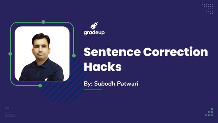 Live Class: Sentence Correction Hacks