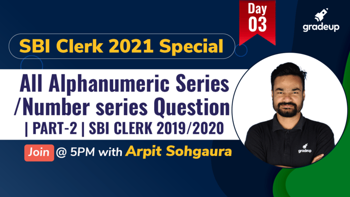 Live Class: All Alphanumeric Series/Number series Question | PART-2 | SBI CLERK 2019/2020