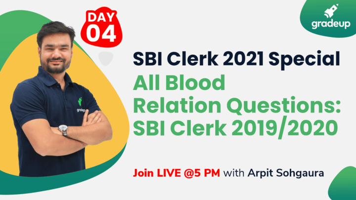 Live Class: All Blood Relation Questions: SBI Clerk 2019/2020